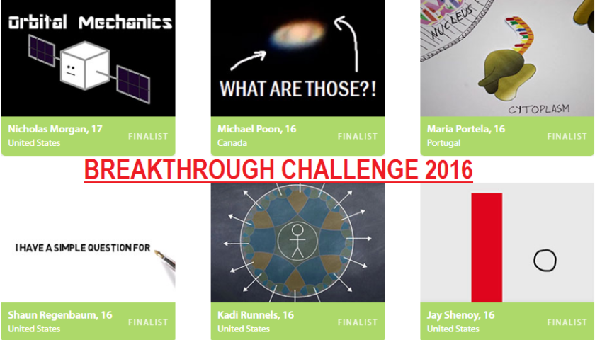 Breakthrough Junior Challenge 2016