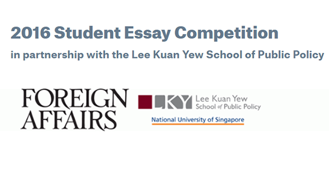 2016 Student Essay Competition: Foreign Affairs