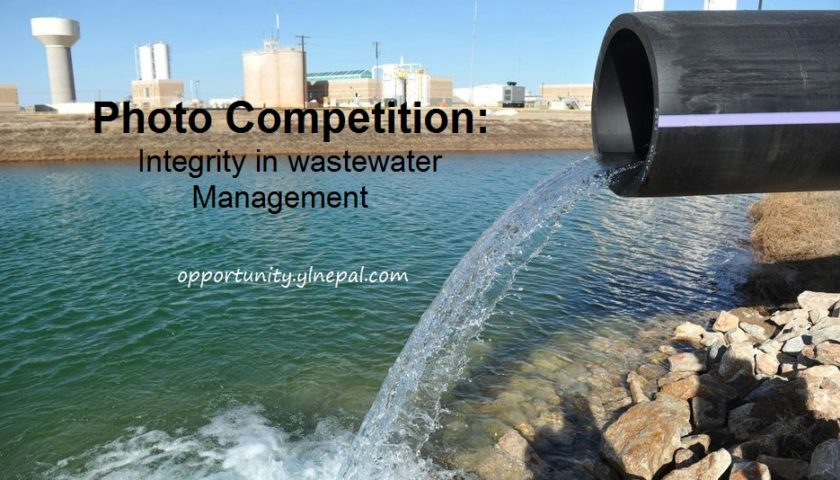 PHOTO COMPETITION: INTEGRITY IN WASTEWATER MANAGEMENT