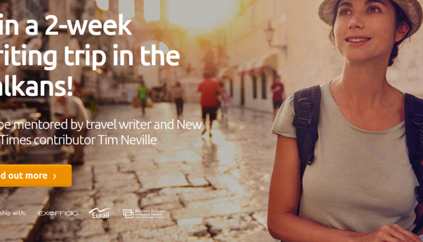 Win a 2-week writing trip in the Balkans, Europe! Travel Writing Scholarship