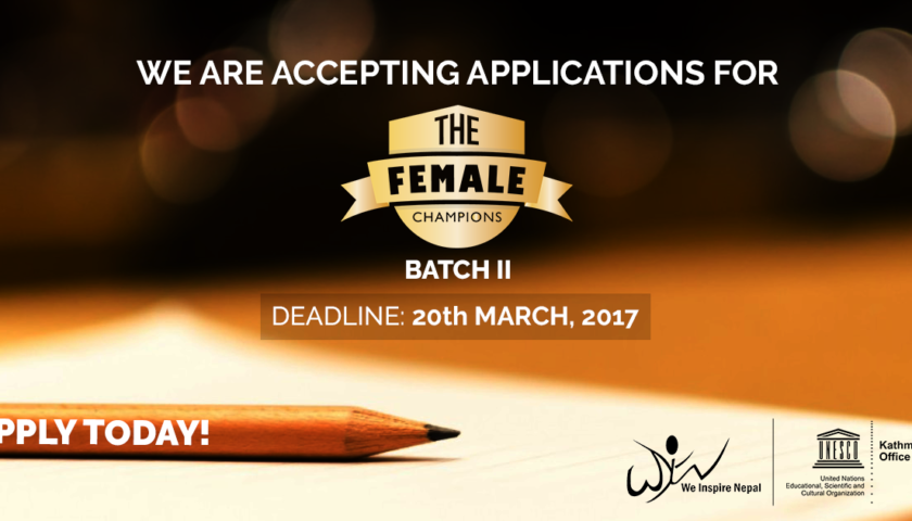 Application Open for The Female Champions – Batch II