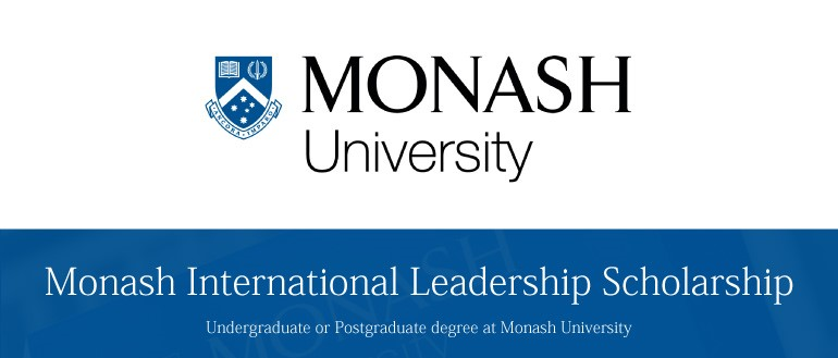 Monash International Leadership Scholarships 2017 in Australia