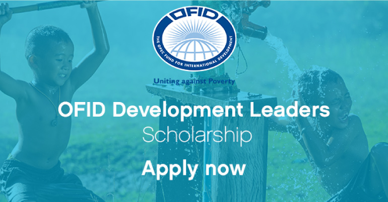 OFID Development Leaders Scholarship 2017