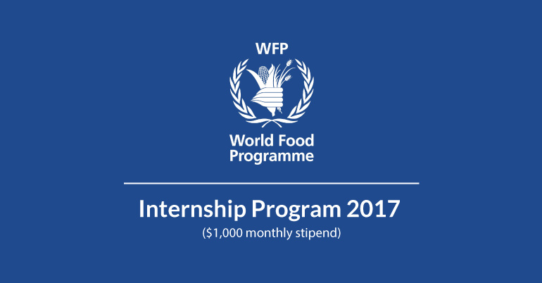 United Nations World Food Programme (WFP) Internship Program 2017 in Rome, Italy