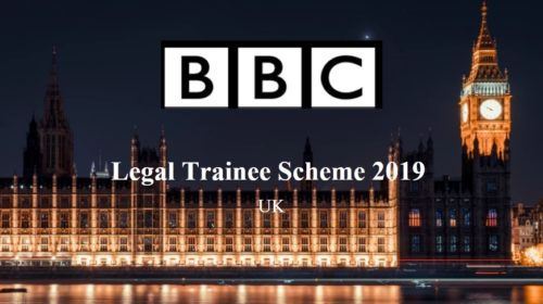 BBC Legal Trainee Scheme 2019 at UK