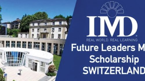 Study in Switzerland: The IMD Future Leaders MBA Scholarships 2017 – 2018
