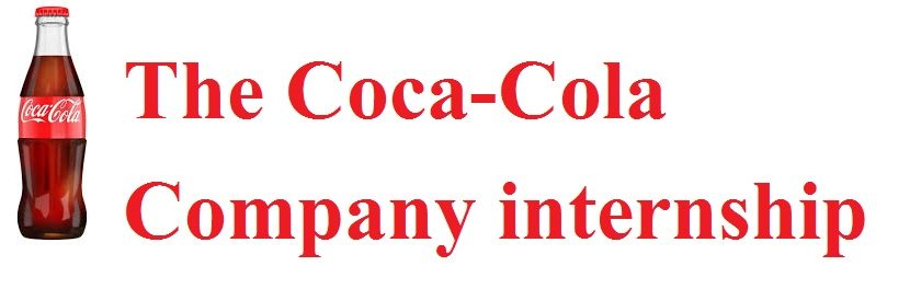 The Coca-Cola Company internship programme 2018