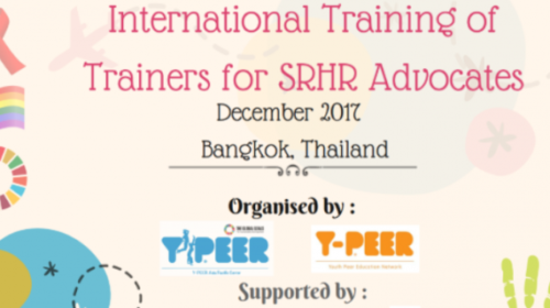 International Training of Trainers on SRHR in Thailand