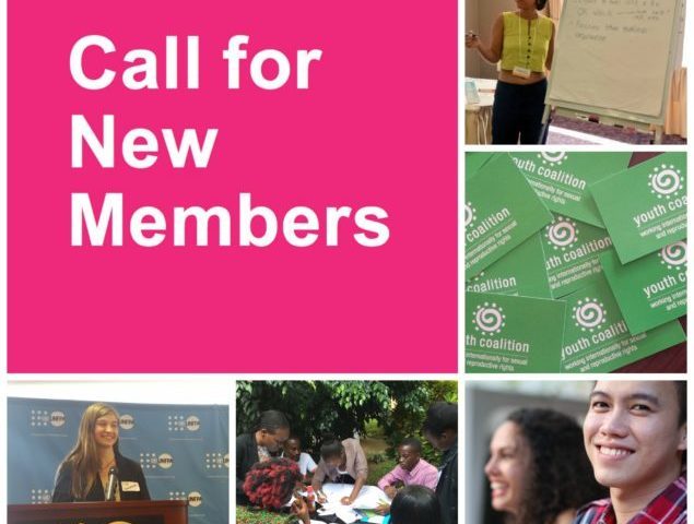 Application for Youth Coalition for Sexual and Reproductive Rights Open for New Membership