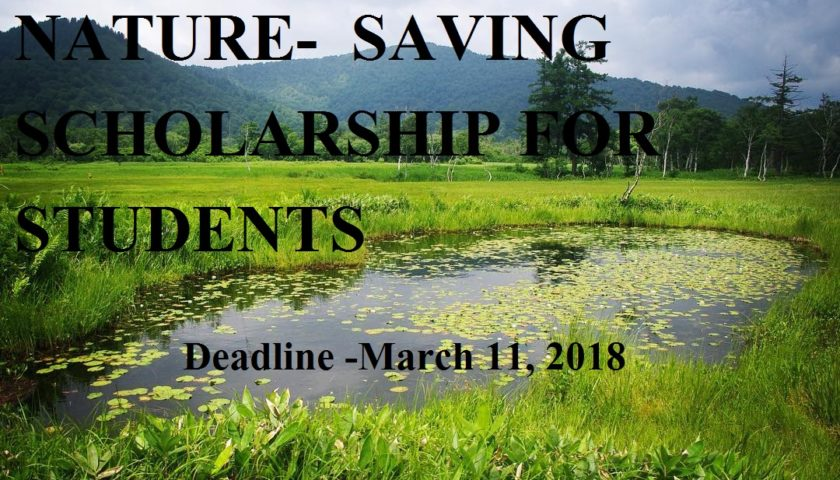 NATURE-⁠SAVING SCHOLARSHIP FOR STUDENTS