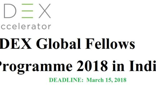 IDEX Global Fellows Programme 2018 in India