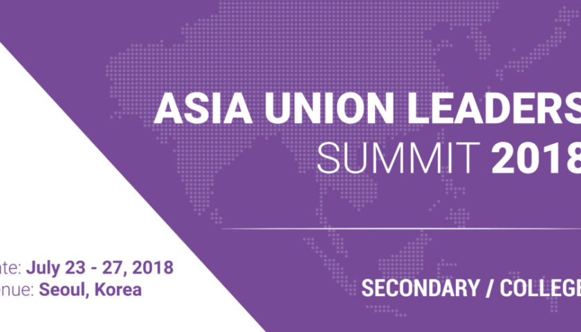 Asia Union Leaders Summit 2018 in South Korea