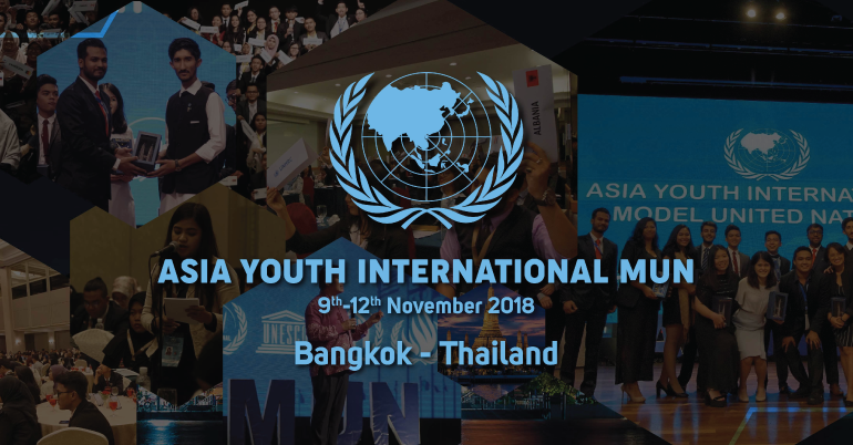 Asia Youth International Model United Nations (AYIMUN) 2018 in Thailand