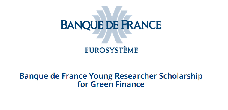 Banque de France Young Researcher Scholarship for Green Finance