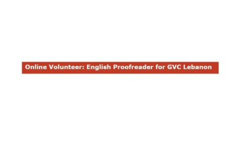 ONLINE VOLUNTEER: ENGLISH PROOFREADER FOR GVC LEBANON