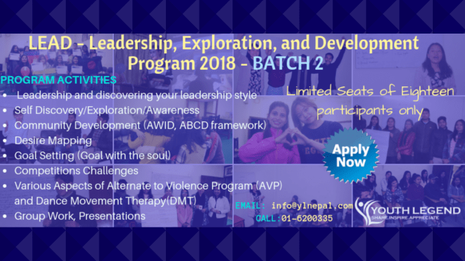 Call for Application: LEAD – Leadership, Exploration and Development Program – Batch 2