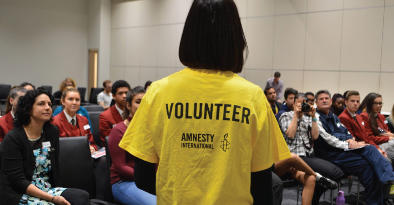 Council of Europe Volunteer 2018 at Amnesty International in London